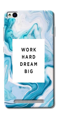 Work Hard Dream Big Printed Designer Back Case Cover For Xiaomi Redmi 3s