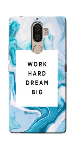 Digiprints Work Hard Dream Big Printed Designer Back Case Cover For Lenovo K8 Note