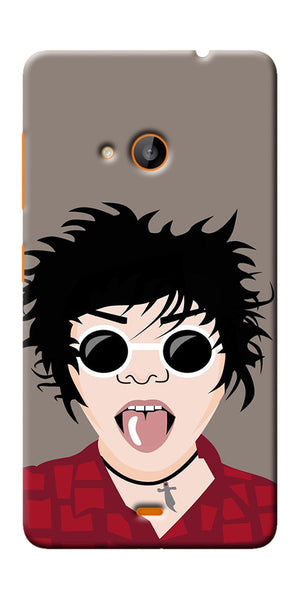 Digiprints Teasing Cool Emoji Printed Designer Back Case Cover For Microsoft Lumia 540