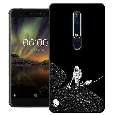 Digiprints Vaccume Claner In Space Printed Designer Back Case Cover For Nokia 6.1(2018)