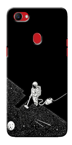 Digiprints Vaccume Claner In Space Printed Designer Back Case Cover For Oppo F7