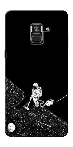 Vaccume Claner In Space Printed Designer Back Case Cover For Samsung Galaxy A8 Plus 2018