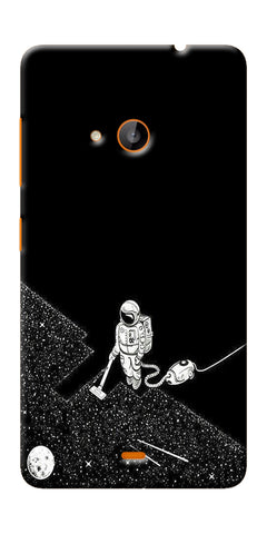 Digiprints Vaccume Claner In Space Printed Designer Back Case Cover For Microsoft Lumia 540