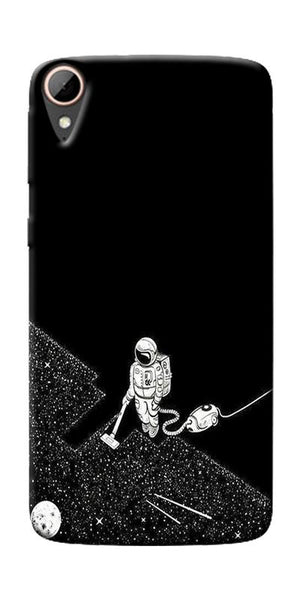 Vaccume Claner In Space Printed Designer Back Case Cover For HTC Desire 828