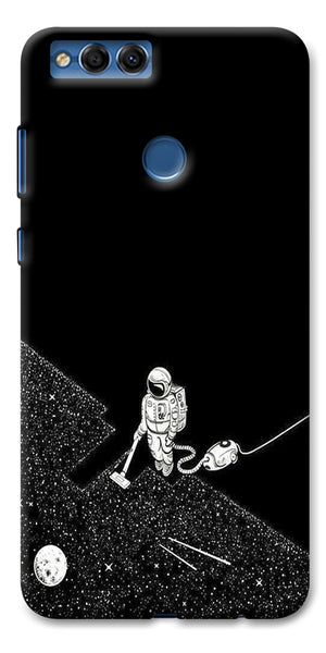 Digiprints Vaccume Claner In Space Printed Designer Back Case Cover For Huawei Honor 7X