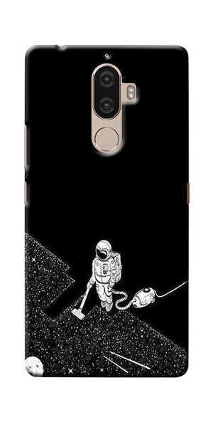Digiprints Vaccume Claner In Space Printed Designer Back Case Cover For Lenovo K8 Plus