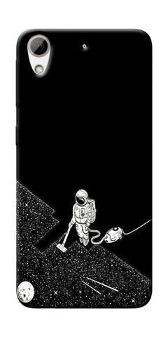 Vaccume Claner In Space Printed Designer Back Case Cover For HTC Desire 626