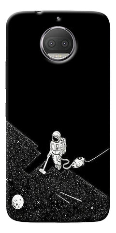 Vaccume Claner In Space Printed Designer Back Case Cover For Motorola Moto G5S Plus