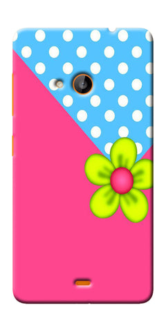 Digiprints Pink Pattern Flower Art Printed Designer Back Case Cover For Microsoft Lumia 540