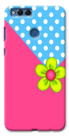 Digiprints Pink Pattern Flower Art Printed Designer Back Case Cover For Huawei Honor 7X