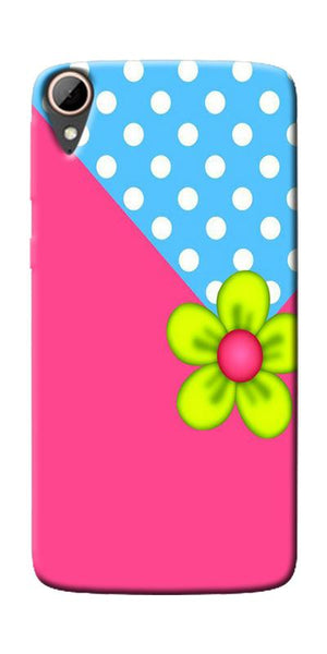 Pink Pattern Flower Art Printed Designer Back Case Cover For HTC Desire 828