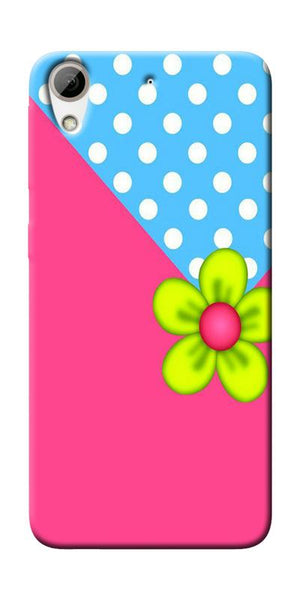 Pink Pattern Flower Art Printed Designer Back Case Cover For HTC Desire 626