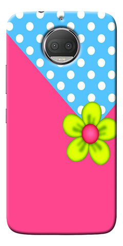 Pink Pattern Flower Art Printed Designer Back Case Cover For Motorola Moto G5S Plus