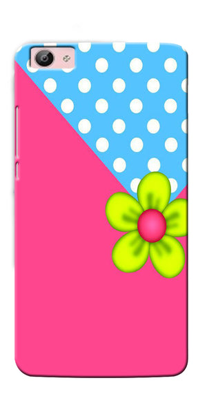 Digiprints Pink Pattern Flower Art Printed Designer Back Case Cover For Vivo V5