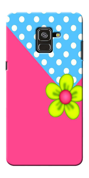Pink Pattern Flower Art Printed Designer Back Case Cover For Samsung Galaxy A8 Plus 2018