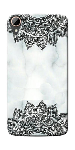 Ehtnic Pattern On Marble Printed Designer Back Case Cover For HTC Desire 828