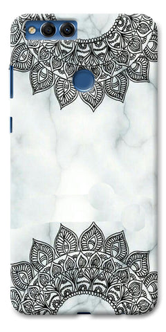 Digiprints Ehtnic Pattern On Marble Printed Designer Back Case Cover For Huawei Honor 7X
