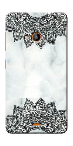 Digiprints Ehtnic Pattern On Marble Printed Designer Back Case Cover For Microsoft Lumia 540