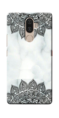 Digiprints Ehtnic Pattern On Marble Printed Designer Back Case Cover For Lenovo K8 Plus