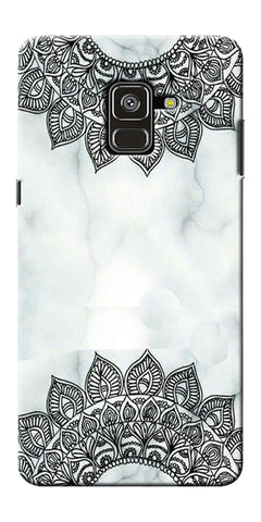 Ehtnic Pattern On Marble Printed Designer Back Case Cover For Samsung Galaxy A8 Plus 2018