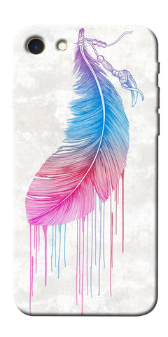 Digiprints Feather Paint Drop Printed Designer Back Case Cover For Apple iPhone 7