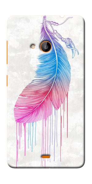 Digiprints Feather Paint Drop Printed Designer Back Case Cover For Microsoft Lumia 540