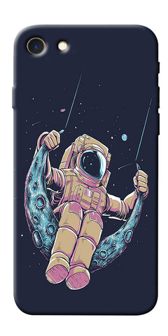 Digiprints Astranaut Riding Moon Printed Designer Back Case Cover For Apple iPhone 7