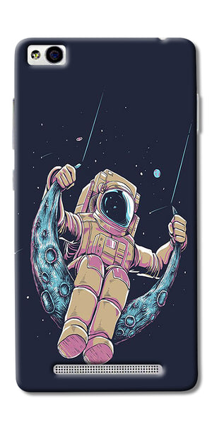 Astranaut Riding Moon Printed Designer Back Case Cover For Xiaomi Redmi 3s