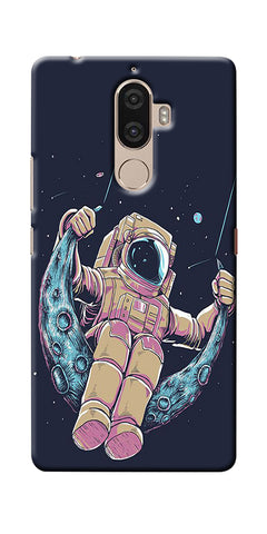 Digiprints Astranaut Riding Moon Printed Designer Back Case Cover For Lenovo K8 Plus