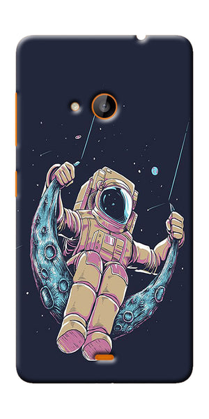 Digiprints Astranaut Riding Moon Printed Designer Back Case Cover For Microsoft Lumia 540