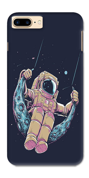 Digiprints Astranaut Riding Moon Printed Designer Back Case Cover For Apple iPhone 7 Plus