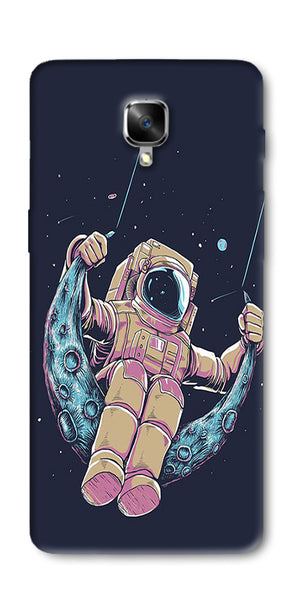 Astranaut Riding Moon Printed Designer Back Case Cover For OnePlus 3T