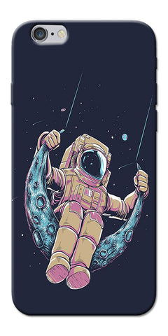 Digiprints Astranaut Riding Moon Printed Designer Back Case Cover For Apple iPhone 6s