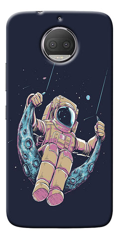 Astranaut Riding Moon Printed Designer Back Case Cover For Motorola Moto G5S Plus
