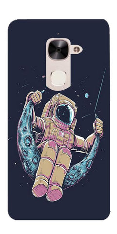 Astranaut Riding Moon Printed Designer Back Case Cover For LeEco Le 2