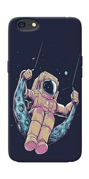Astranaut Riding Moon Printed Designer Back Case Cover For Oppo A71