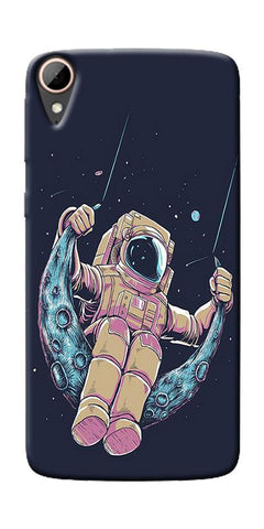 Astranaut Riding Moon Printed Designer Back Case Cover For HTC Desire 828