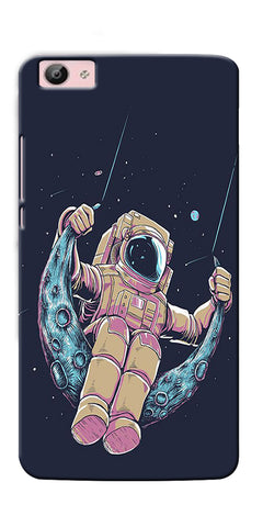 Digiprints Astranaut Riding Moon Printed Designer Back Case Cover For Vivo V5 Plus