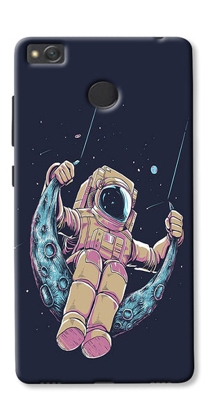 Astranaut Riding Moon Printed Designer Back Case Cover For Xiaomi Redmi 4