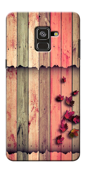 Spring Wood Pattern Printed Designer Back Case Cover For Samsung Galaxy A8 Plus 2018