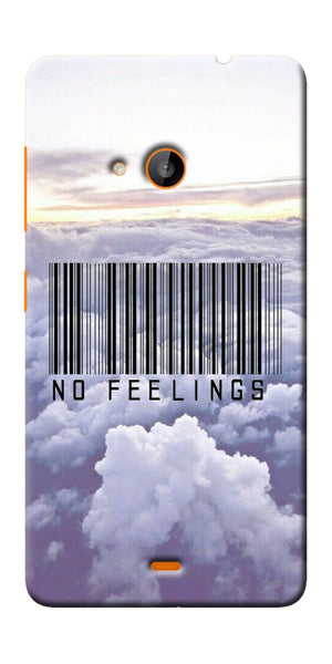 Digiprints No Feeling  Printed Designer Back Case Cover For Microsoft Lumia 540