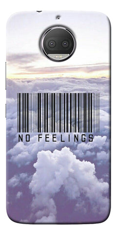 No Feeling  Printed Designer Back Case Cover For Motorola Moto G5S Plus