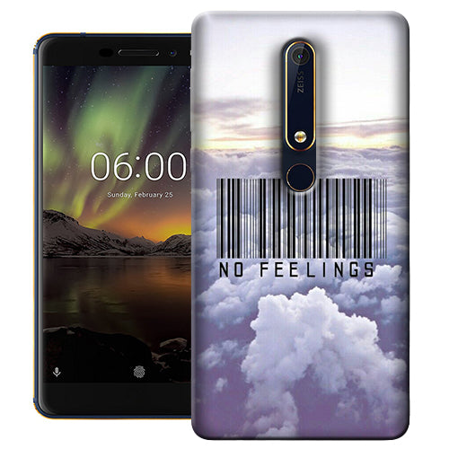 Digiprints No Feeling  Printed Designer Back Case Cover For Nokia 6.1(2018)