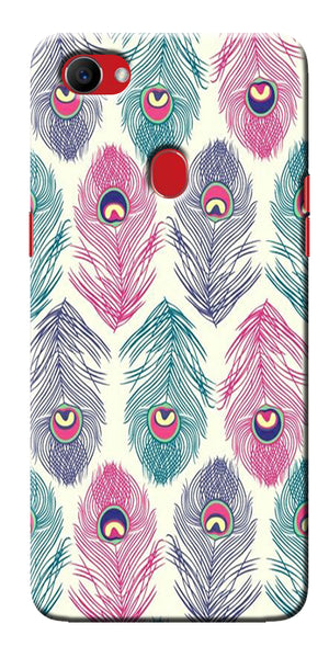 Digiprints Colorful Feathers Printed Designer Back Case Cover For Oppo F7
