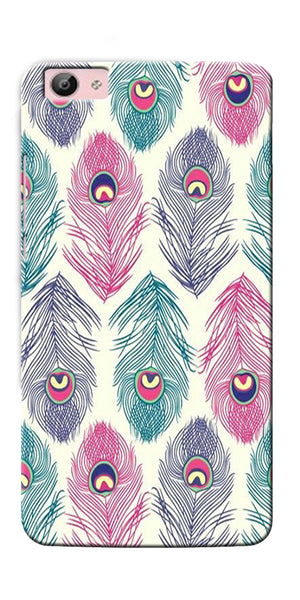 Digiprints Colorful Feathers Printed Designer Back Case Cover For Vivo V5S