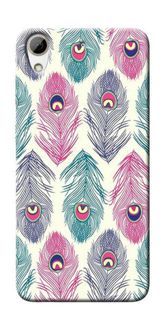 Colorful Feathers Printed Designer Back Case Cover For HTC Desire 626