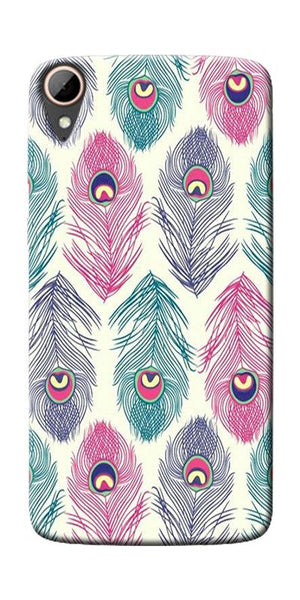 Colorful Feathers Printed Designer Back Case Cover For HTC Desire 828