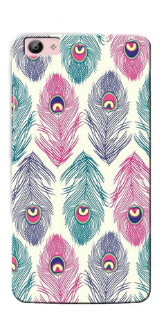 Digiprints Colorful Feathers Printed Designer Back Case Cover For Vivo V5 Plus