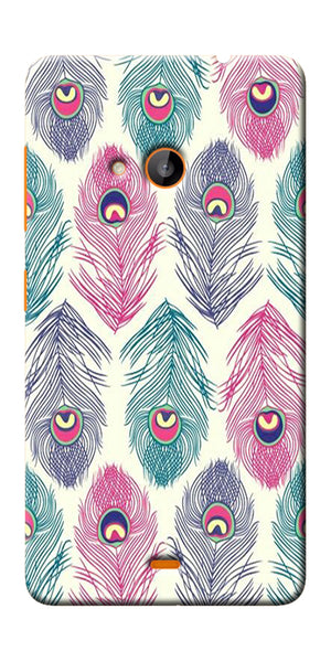Digiprints Colorful Feathers Printed Designer Back Case Cover For Microsoft Lumia 540