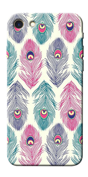 Digiprints Colorful Feathers Printed Designer Back Case Cover For Apple iPhone 7